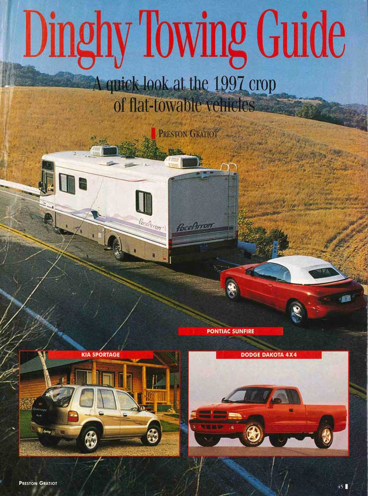 downloadable dinghy guides motorhome magazine rh motorhome com motorhome dinghy towing guide 2000 Dinghy Towing List